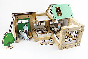 Деревянный конструктор 3D Zeus 70 деталей+7 фигур (ДКЗD)