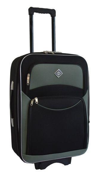 Дорожный чемодан на колесах Bonro Style Черно-серый Средний