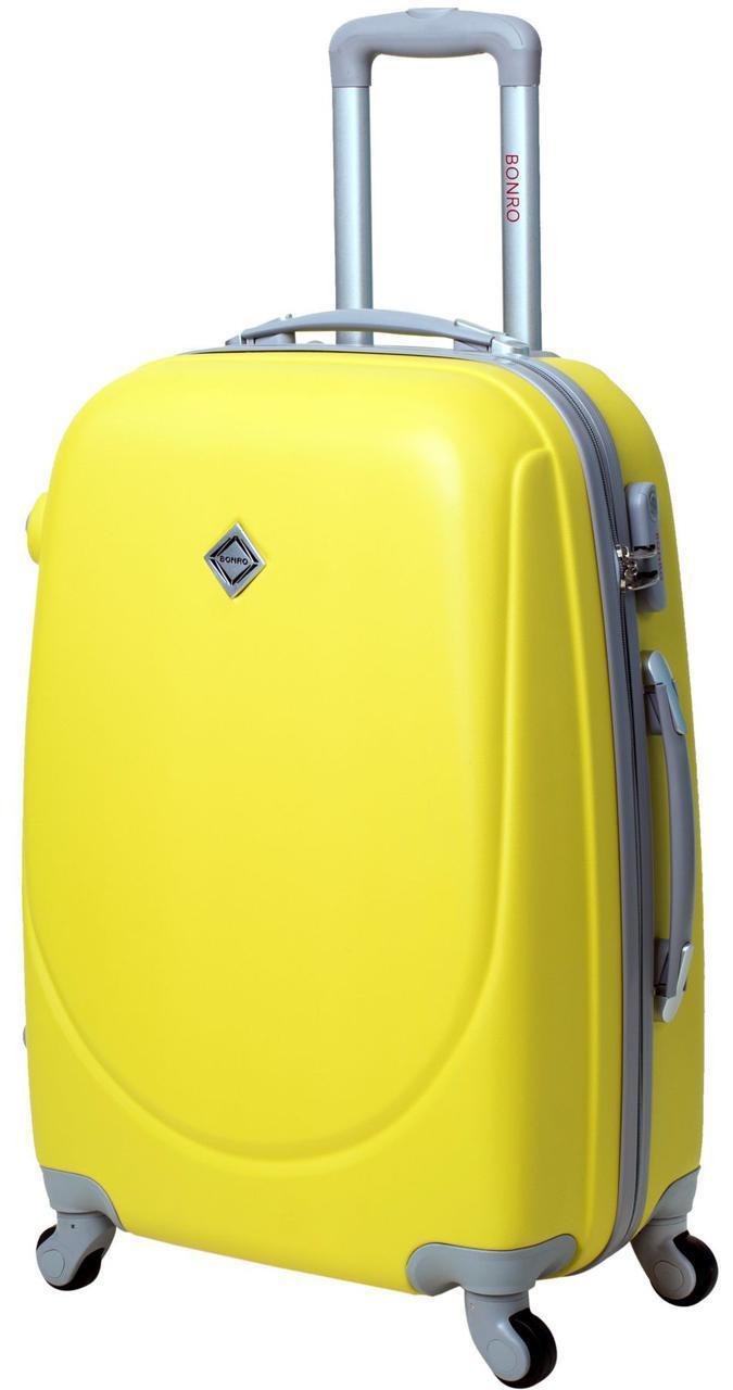 Дорожный чемодан на колесах Bonro Smile Желтый Средний