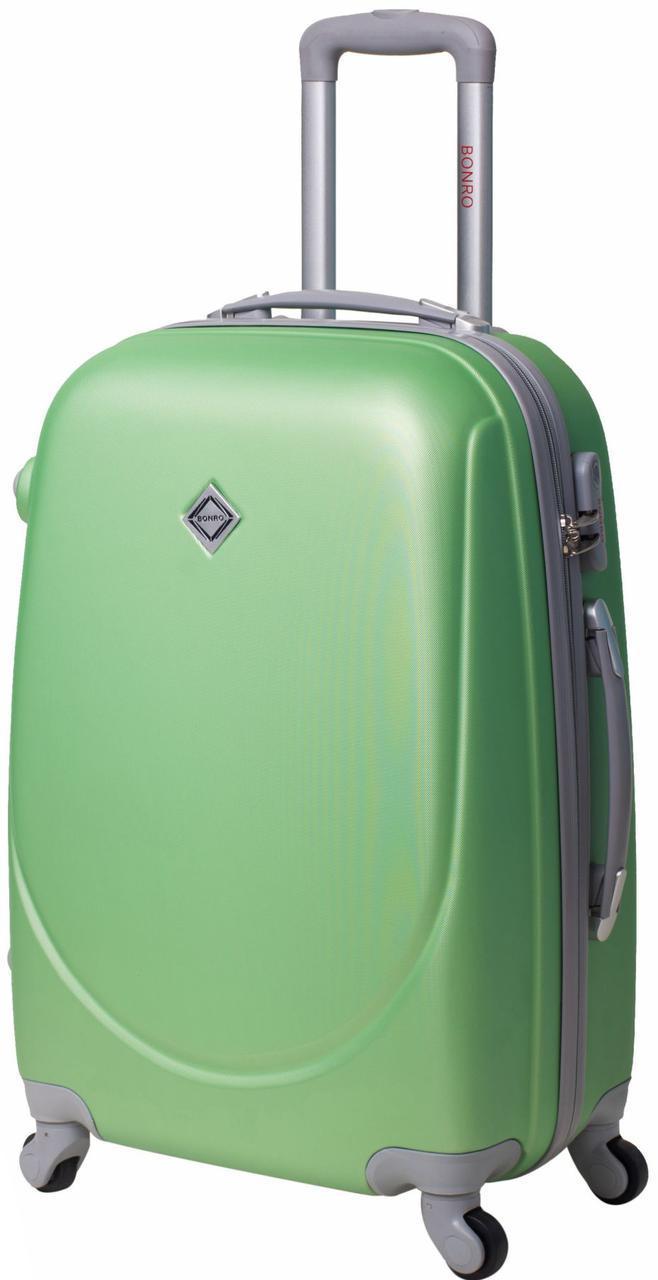 Дорожный чемодан на колесах Bonro Smile Салатовый Средний