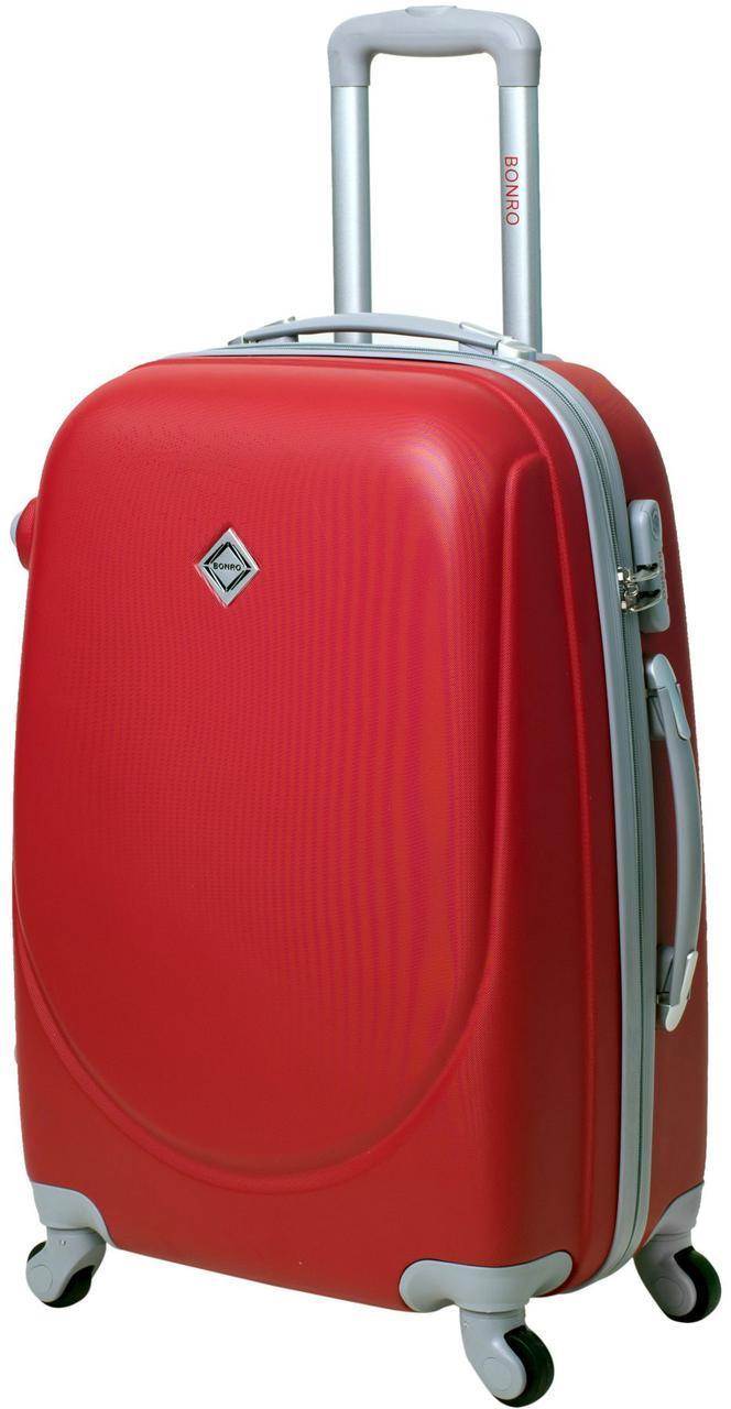 Дорожній валізу на колесах Bonro Smile Червоний Середній