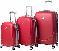 Набор чемоданов на колесах Bonro Smile с двойными колесами Красный 3 штуки, фото 1