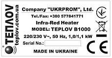 Бытовой инфракрасный обогреватель Теплоv Б1000, фото 2