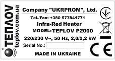 Промышленный инфракрасный обогреватель ТеплоV П2000, фото 3