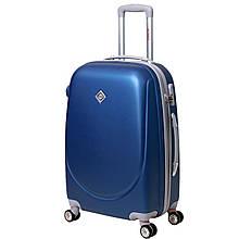 Дорожный чемодан на колесах Bonro Smile с двойными колесами Синий Средний