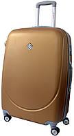 Дорожный чемодан на колесах Bonro Smile с двойными колесами Золотой Средний, фото 1