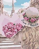 "Картина по номерам. Люди ""Влюбленная в Париж"" 40*50см KHO4551"