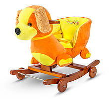 Детская плюшевая качалка-каталка 3 в 1 Tobi Toys Собачка
