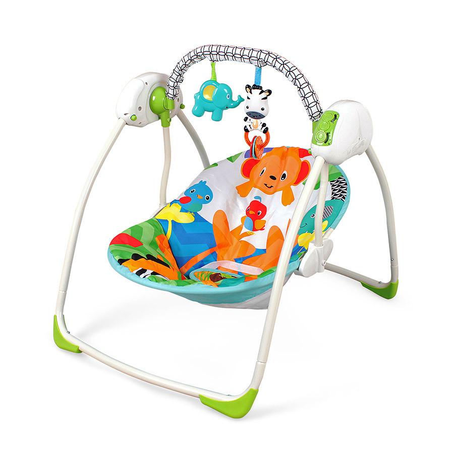 Детское кресло-качалка Fitch Baby Зверюшки для новорожденных + подвесные игрушки