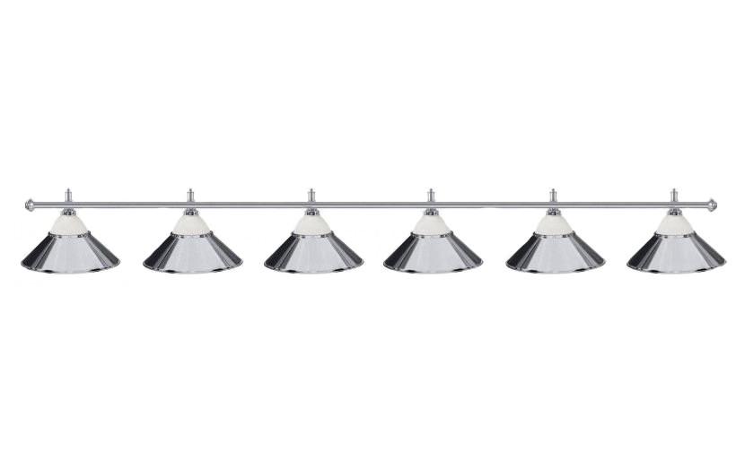 Светильники бильярдные Classic Silver 6 плафона