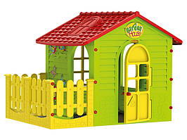 Детский игровой домик Mochtoys с террасой (Садовый домик для улицы и дома)
