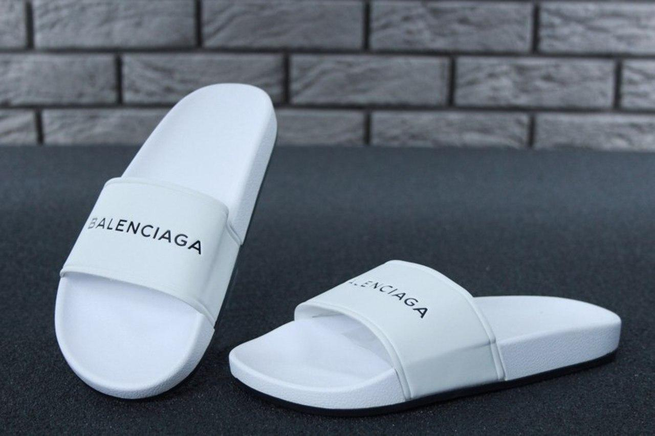Женские шлепки Balenciaga (белые)