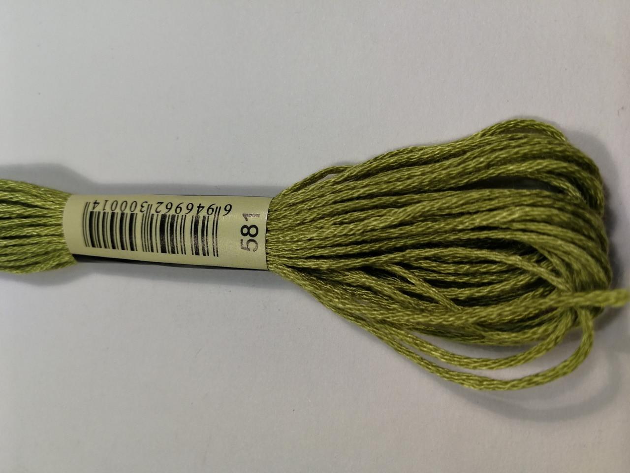 Мулине СХС 581 цвет мха