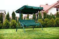 Садовые качели Relax Furnide 3-х местная с козырьком