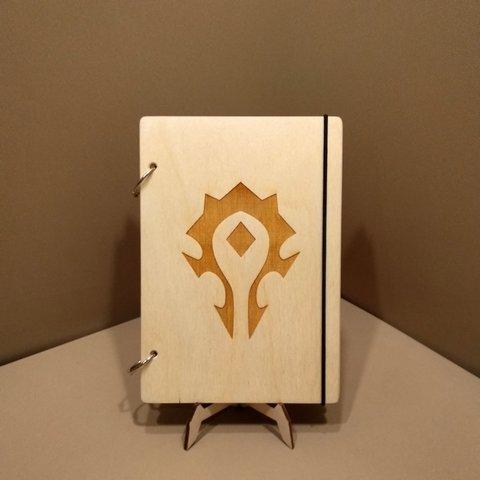 Скетчбук World of Warcraft. Блокнот с деревянной обложкой.
