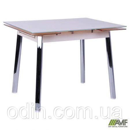 Стол Виктория B179-65 1000(1550)*800*770 База сливочный/Стекло сливочный 256039