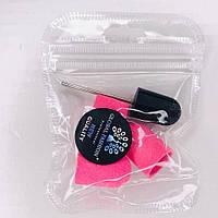 Набор для педикюра : резиновый держатель ( насадка)  +3 колпачка 16 мм, цвета в ассортименте
