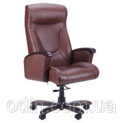 Кресло Галант Лайн DT Орех Кожа Люкс комбинированная Коричневая 511080