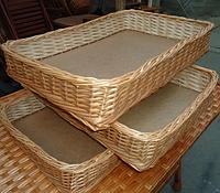 Лотки плетеные корзины  30x40х8 торговые для магазина