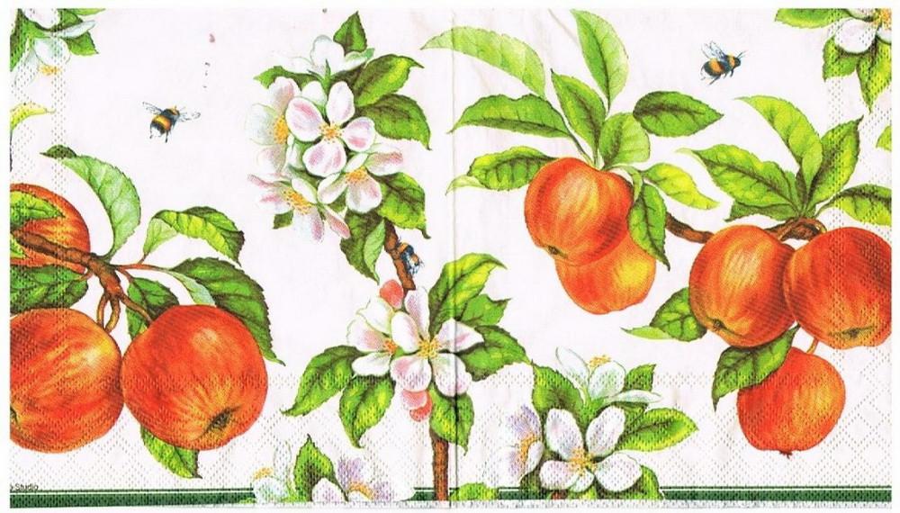 Серветки 33х33 Яблука Марго 20шт.