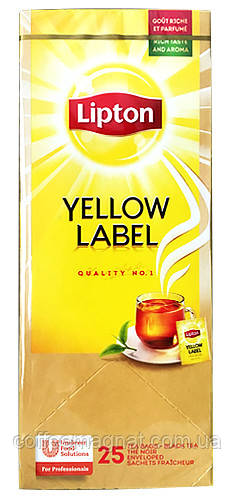 Чорний чай пакетований Lipton Yellow Label Чорний класичний) 25 шт
