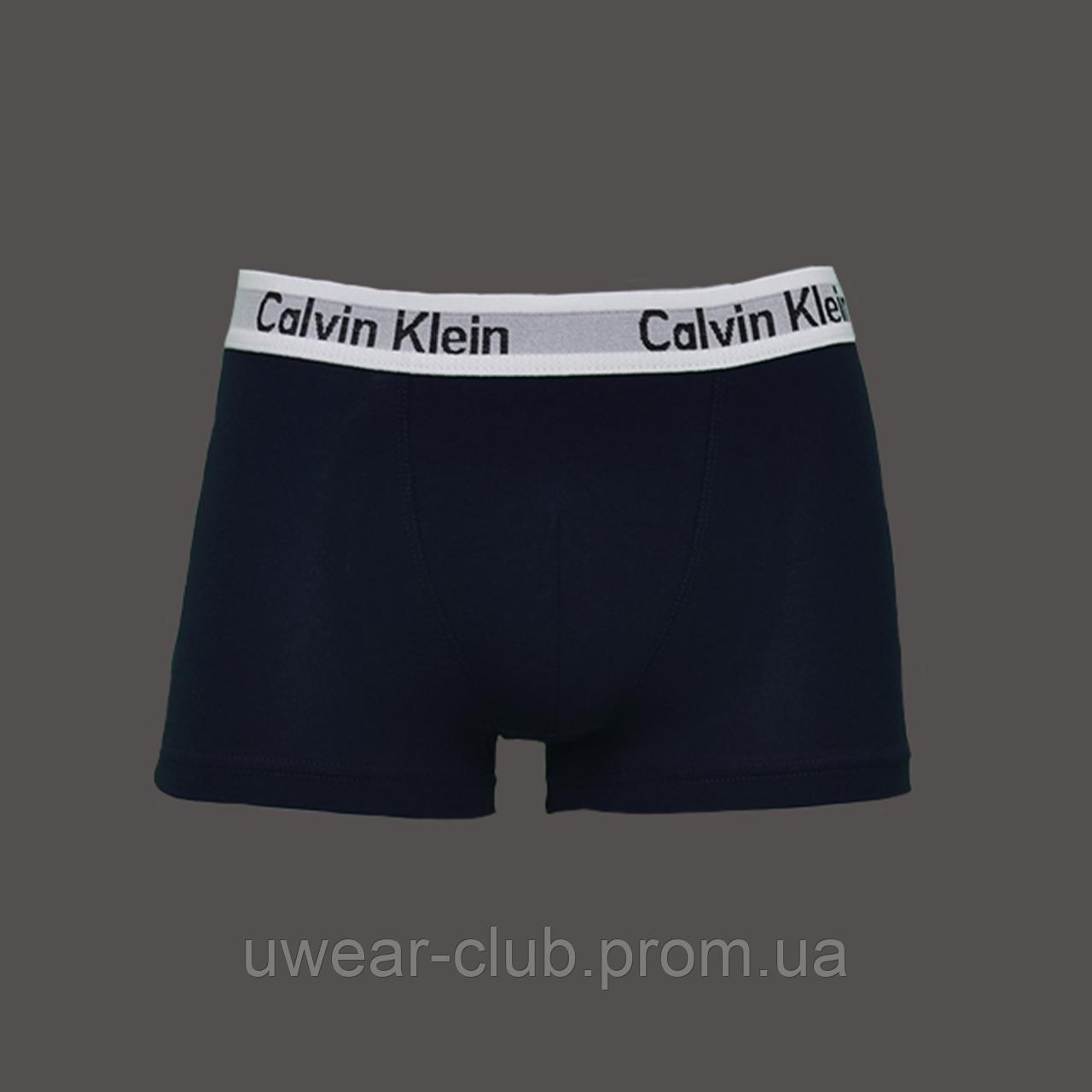 6a2c9f6bb3ba7 Трусы Мужские Боксеры Calvin Klein Темно Синий с Белой Резинкой — в ...