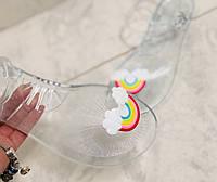 Силиконовые босоножки женские радуга