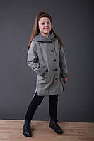 Пальто детское  Татьяна Филатова модель 140 серое