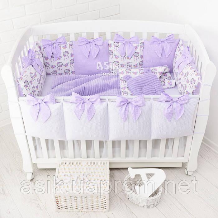Комплект постельного белья Asik Ловцы снов сиреневого цвета (5-331)