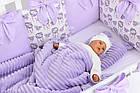 Комплект постельного белья Asik Ловцы снов сиреневого цвета (5-331), фото 4