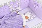 Комплект постельного белья Asik Ловцы снов сиреневого цвета (5-331), фото 5