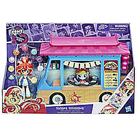 Набор My Little Pony Девочки из Эквестрии кукла Сансет Шиммер Суши-грузовик Equestria Girls Rollin Sushi Truck