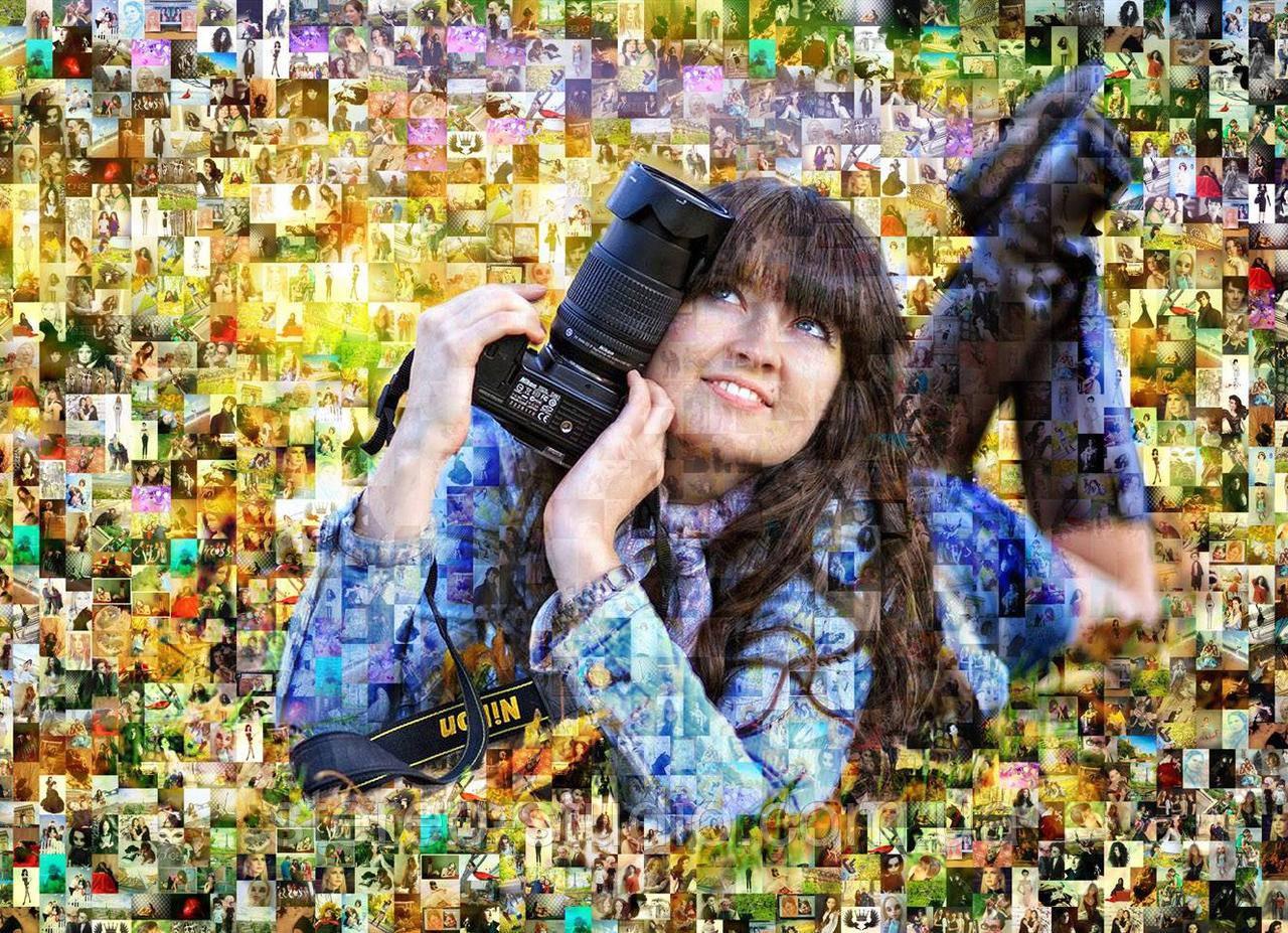 Мозаика из Ваших  фото  - яркий подарок на добрую память!