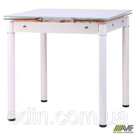 Стол Челси B179-66 750(1200)*700*760 База ваниль/Стекло ваниль 256041