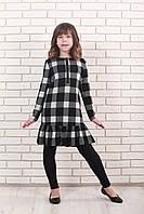 Платье детское Татьяна Филатова модель 166 черно белое 134