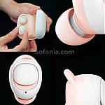 Bluetooth наушники беспроводные с повербанком 2200 мА*ч. Wi-pods MOSUM. Бежевые, фото 8