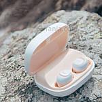 Bluetooth наушники беспроводные гарнитура Wi-pods MOSUM Power bank 2200 мА*ч. Дизайнерский оригинал. Беж, фото 9