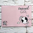 Обкладинка для паспорта Travel girl (рожевий), фото 3