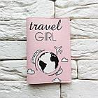 Обкладинка для паспорта Travel girl (рожевий), фото 2