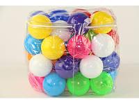 Шарики -мячики для сухого бассейна 70 мм,  100 шт. Бамсик