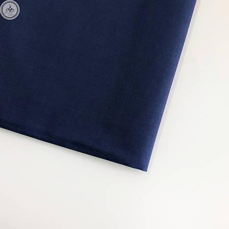 Польская хлопковая ткань темно-синяя 160 см, фото 2