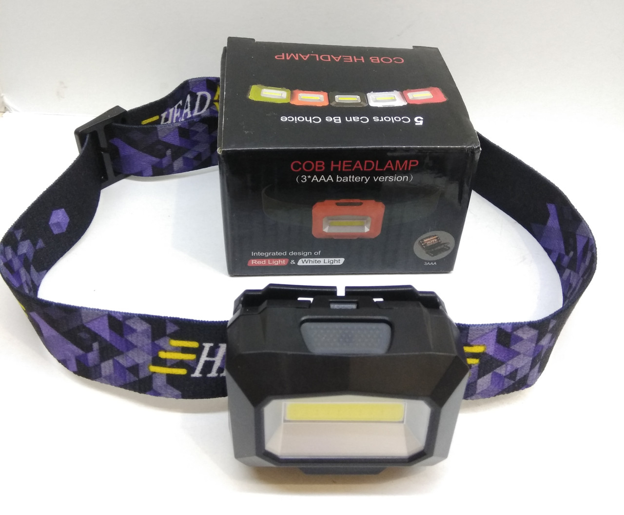Фонарик налобный BSmart LED, USB зарядка