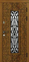 Двери входные Риана со стеклом и ковкой серии Эталон ТМ Каскад