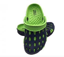 Сабо детские пляжные Aqua Speed Silv 30 Черный с зеленым (aqs128)