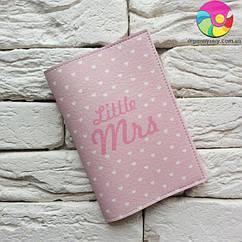 Обложка для паспорта Little Mrs 2 (розовый в горошек)
