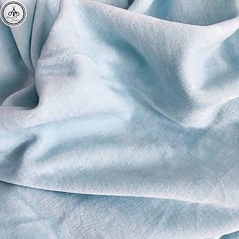 Велюр х/б светло-голубой, ширина 180 см