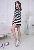 Легкое летнее платье трапецией в морском стиле, в полоску от 42 - 48 размер