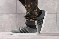 Мужские кроссовки, кеды в стиле Adidas Gazelle, замша, серые 43 (26,9 см)