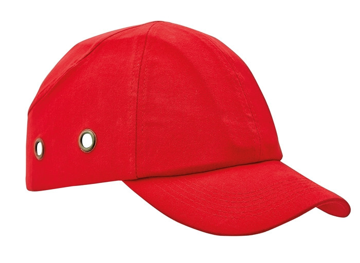 Каска - бейсболка (каскетка) защитная Duiker красная