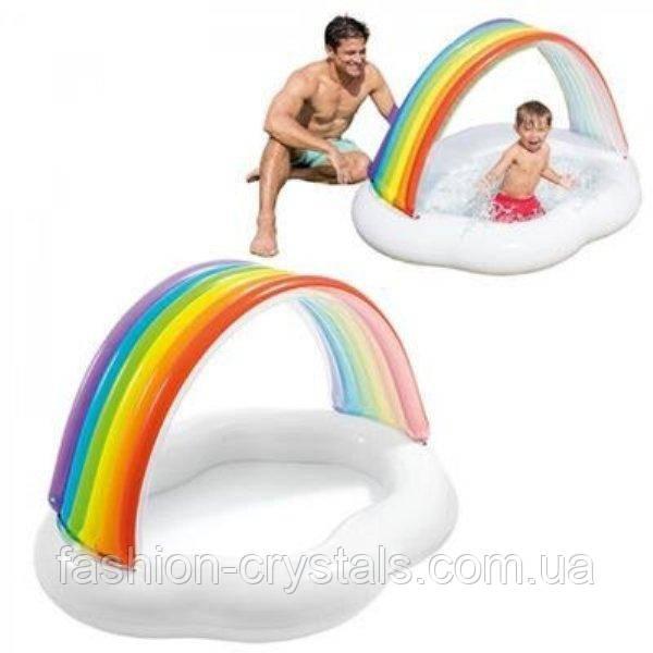 Дитячий надувний басейн веселка